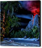 Tiki Jungle Canvas Print by Alex George