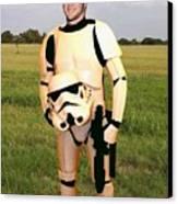 Tim Tebow Stormtrooper Canvas Print by Paul Van Scott
