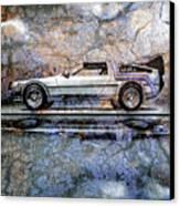 Time Machine Or The Retrofitted Delorean Dmc-12 Canvas Print
