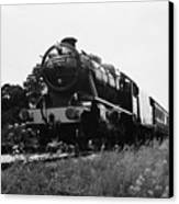 Time Travel By Steam B/w Canvas Print by Martin Howard