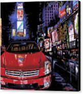 Times Square ....cadillac Canvas Print