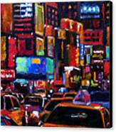 Times Square Canvas Print by Debra Hurd