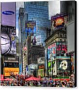 Times Square Canvas Print by Joe Paniccia