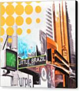 Times Square Little Brazil Canvas Print