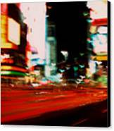 Times Square Painted Canvas Print