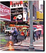 Times Square Umbrellas Canvas Print