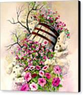 Tipsy Whiskey Barrel Canvas Print