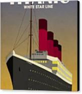 Titanic Ocean Liner Canvas Print by Michael Tompsett