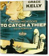 To Catch A Thief, Poster Art, Cary Canvas Print by Everett