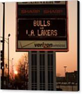 To The Bulls Game Canvas Print