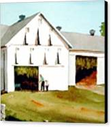Tobacco Barn Canvas Print by Faye Ziegler