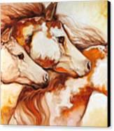 Tobiano Horse Trio Canvas Print