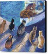Today's Catch Canvas Print by Helen Hammerman