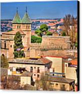 Toledo Town View Canvas Print by Joan Carroll