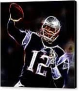 Tom Brady - New England Patriots Canvas Print by Paul Ward