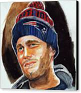 Tom Brady Canvas Print by Dave Olsen