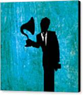 Tom Waits Canvas Print by Janina Aberg