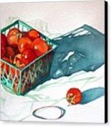Tomato Basket Canvas Print