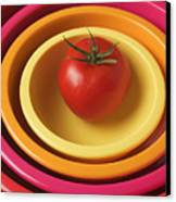 Tomato In Mixing Bowls Canvas Print
