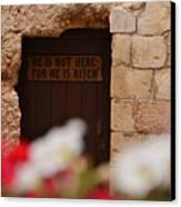 Tomb Of Jesus Canvas Print
