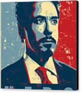 Tony Stark Canvas Print by Caio Caldas