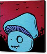 Toothed Zombie Mushroom Canvas Print