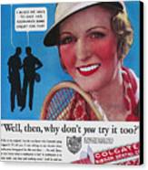 Toothpaste Ad, 1932 Canvas Print by Granger