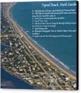 Topsail Beach Canvas Print by Betsy Knapp