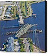 Topsail Island Swing Bridge Canvas Print by Betsy Knapp