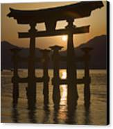 Torii Canvas Print by Karen Walzer