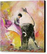 Toro Tenderness Canvas Print by Miki De Goodaboom