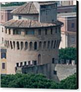 Torre San Giovanni St Johns Tower On The Ramparts Of The Walls Of The Vatican City Rome Canvas Print