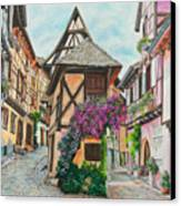 Touring In Eguisheim Canvas Print by Charlotte Blanchard