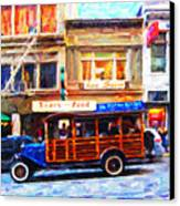 Touring The Streets Of San Francisco Canvas Print by Wingsdomain Art and Photography