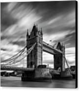 Tower Bridge, River Thames, London, England, Uk Canvas Print