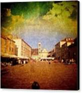 Town Square #edit - #hvar, #croatia Canvas Print
