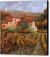 tra le vigne a Montalcino Canvas Print by Guido Borelli