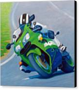 Track Day - Kawasaki Zx9 Canvas Print