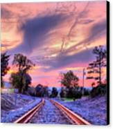 Tracking Towards A Cure Canvas Print by JC Findley