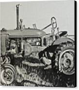 Tractor Canvas Print by Mary Capriole