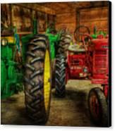 Tractors At Rest - John Deere - Mccormick - Farmall - Farm Equipment - Nostalgia - Vintage Canvas Print