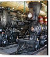 Train - Engine - Steam Locomotives Canvas Print by Mike Savad
