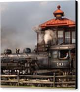 Train - Engine -the Great Western 90 Canvas Print by Mike Savad