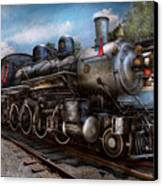 Train - Steam - 385 Fully Restored  Canvas Print by Mike Savad