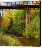 Train Trestle Canvas Print by Michael Peychich