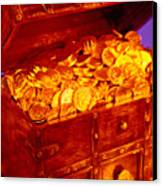 Treasure Chest With Gold Coins Canvas Print by Garry Gay