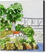 Treasure Island - California Sketchbook Project  Canvas Print