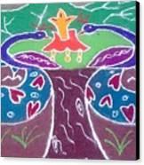 Tree Design Canvas Print by Joni Mazumder