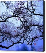 Tree Fantasy In Blue Canvas Print