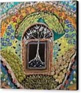 Tree-moon-fish Canvas Print